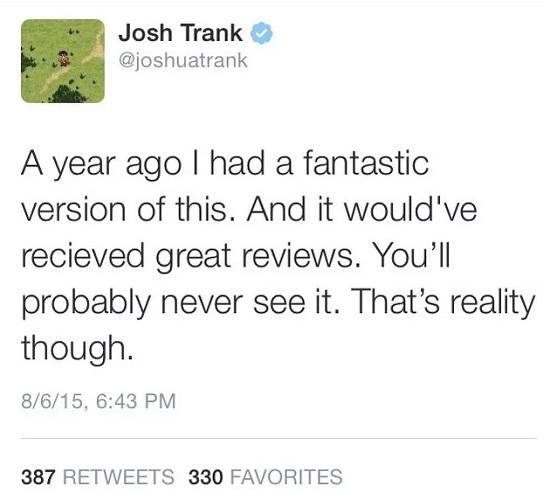 Chronicle - Tweet Josh Trank